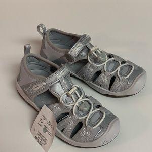 Keen Newport H2 Sandals Girls Silver Glitter Sz 11
